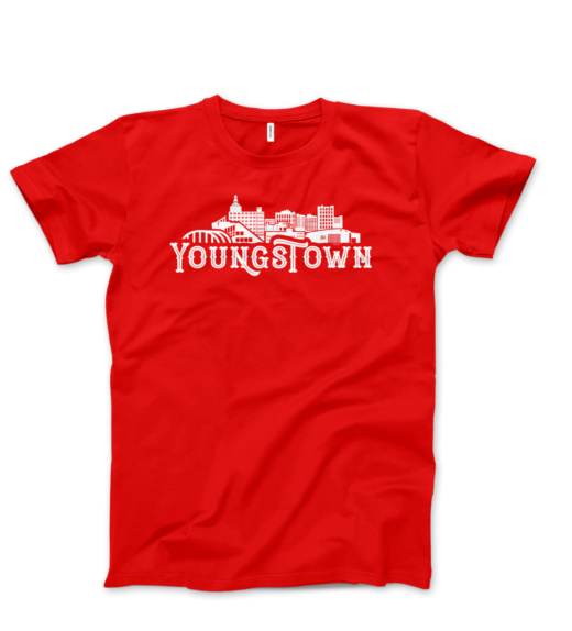 Downtown Youngstown Skyline Red